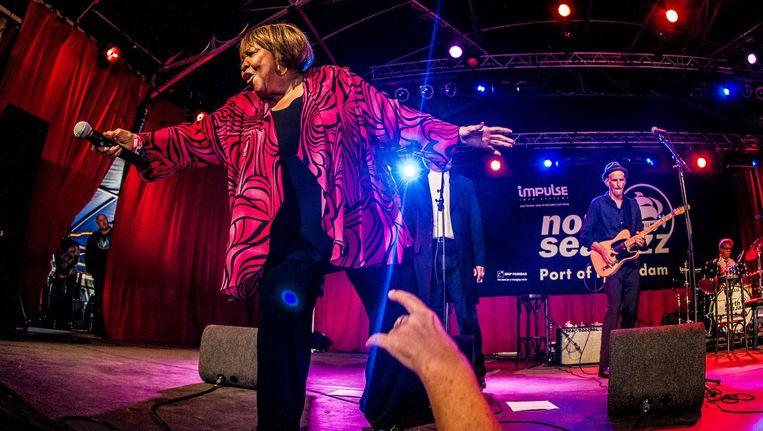 Mavis Staples tijdens een optreden op North Sea Jazz Beeld ANP