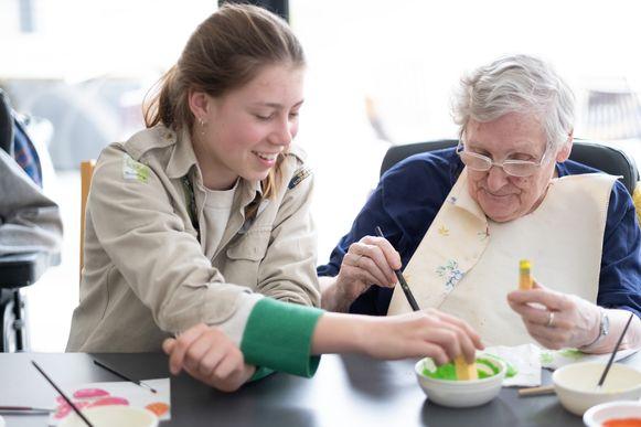 WINTAM Scoutsgroep helpt in De Vlietoever