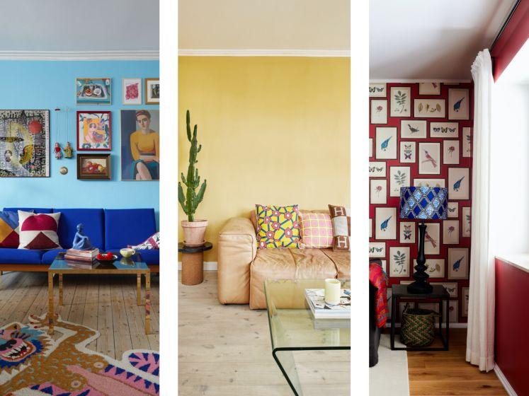 """Adios, witte muren. Zo haal je meer kleur in huis als beginner: """"Gebruik geen kleur die je graag ziet"""""""