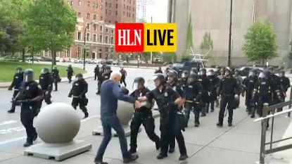 HLN LIVE. Politie treedt hardhandig op tijdens Floyd-protest: schokkende beelden tonen hoe man zonder reden wordt neergeslagen