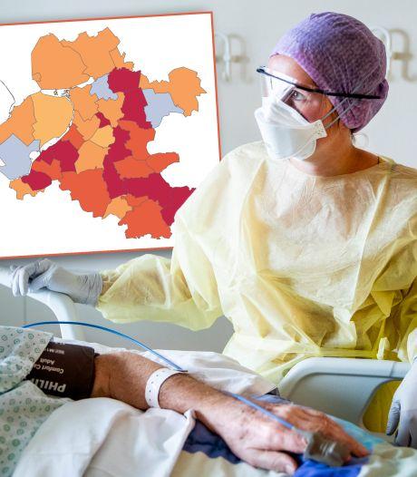 Driemaal zoveel nieuwe besmettingen in deze regio, kijk hier hoe het in jouw plaats zit