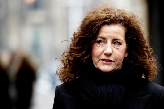 Ingrid van Engelshoven (D66) komt aan op het Binnenhof.