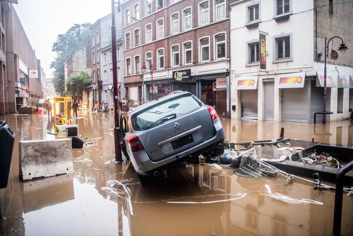 VERVIERS, BELGIUM, on July 15, 2021 Pictured in Verviers, Brussels, on 15/07/2021. ( Photo by Mathieu Golinvaux / Photo News )