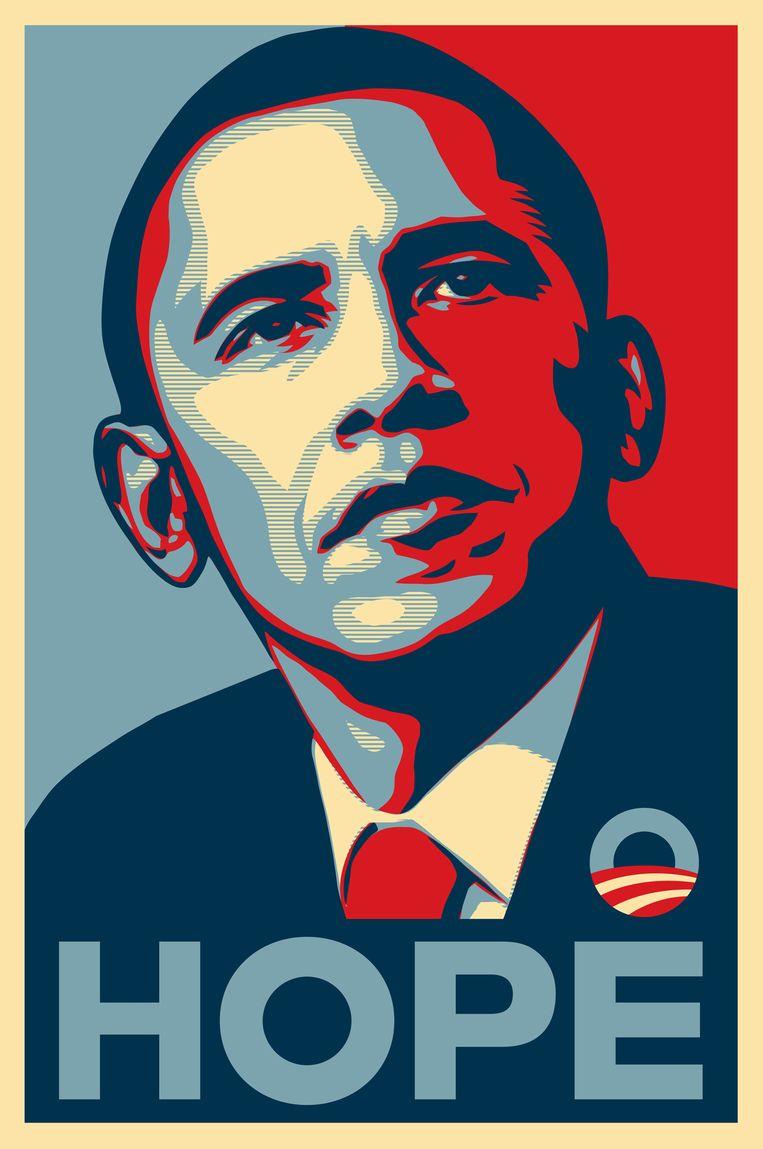 De iconische Obama-poster. Beeld rv