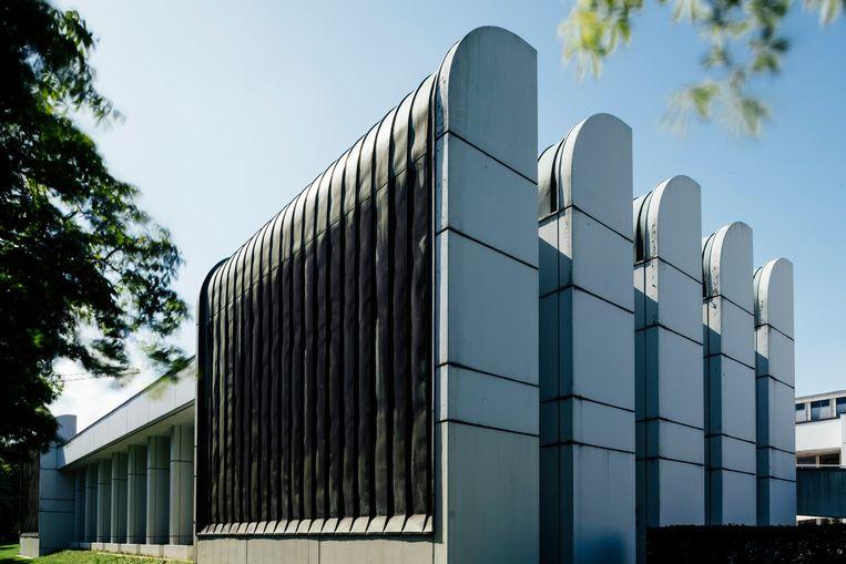 Bauhaus Archiv in Berlijn, in de jaren zeventig gebouwd naar een ontwerp van Walter Gropius. Beeld