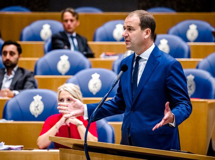 Lodewijk Asscher van de PvdA in de Tweede Kamer