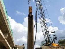 Belangrijke stap in bouw van Zuidelijke Ringweg Groningen: het spoordek van 5 miljoen kilo ligt op zijn plek