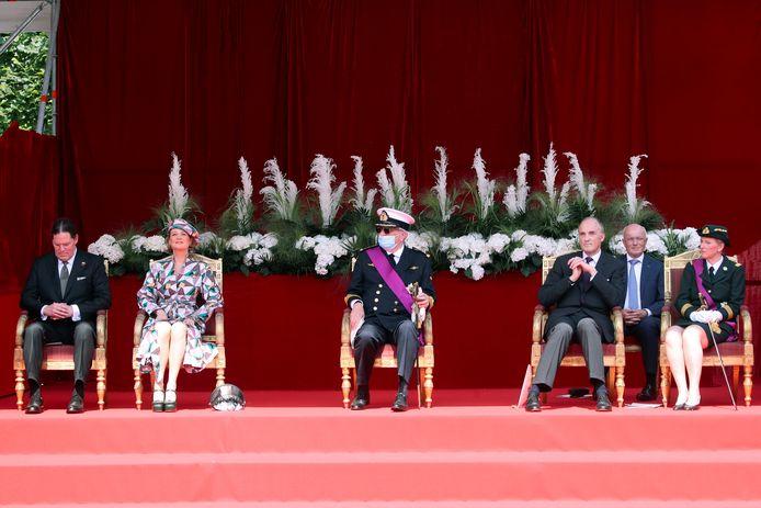 Laurent was aanwezig, maar prinses Claire was nergens te bespeuren.