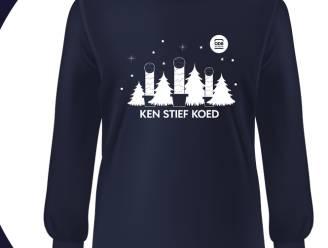 """Oudenburg lanceert kersttruien, als knipoog naar bekende kerstpiemels: """"De slogan mag je interpreteren zoals je zelf wil"""""""