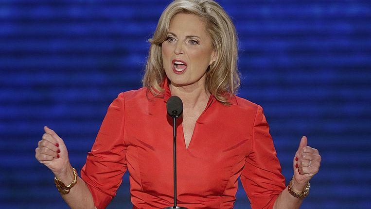 Ann Romney tijdens haar toespraak Beeld ap