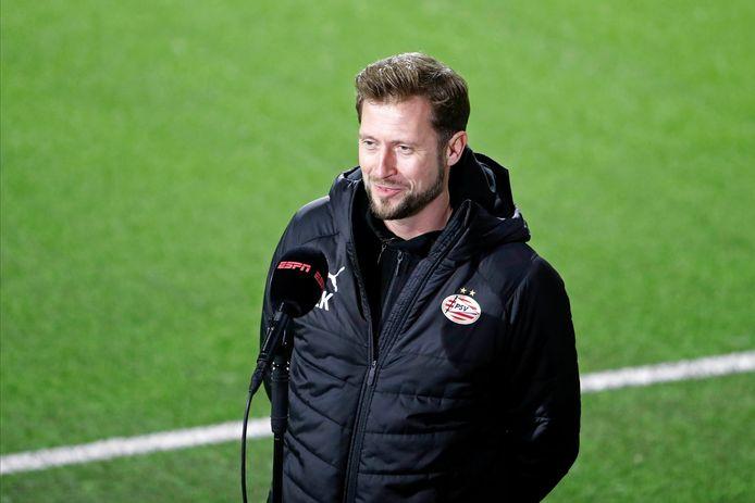 Lars Kornetka nam voor PSV de honneurs waar in Emmen.
