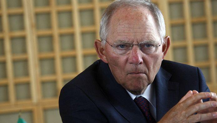 """Een woordvoerder van Schäuble (foto) omschreef de tekening als """"weerzinwekkend""""."""