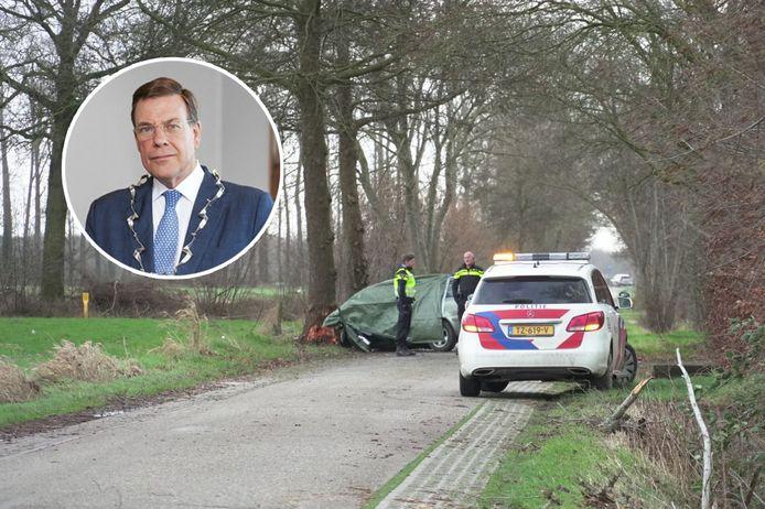Burgemeester Ton Strien is aangeslagen door de twee dodelijke ongevallen die zijn gemeente troffen. Op maandag kwam een 39-jarige vrouw uit Wijhe om het leven op de Luitenant Andersonstraat. Woensdag verongelukte in Vaassen een 30-jarige man uit Wesepe.