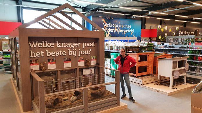Het interieur van de nieuwe Pets Place-dierenspeciaalzaak op het KVL-terrein in Oisterwijk.