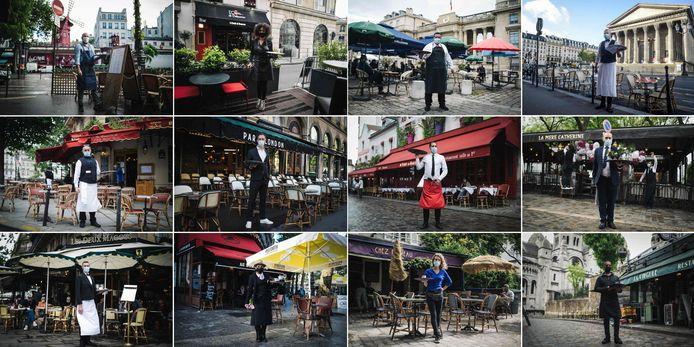 Franse obers in Parijs staan klaar om weer volop gasten te verwelkomen.
