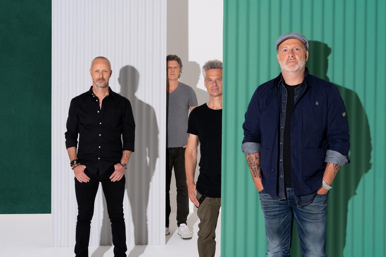 Bløf: Peter Slager, Bas Kennis, Norman Bonink en Paskal Jakobsen. Beeld Jeroen Zondag