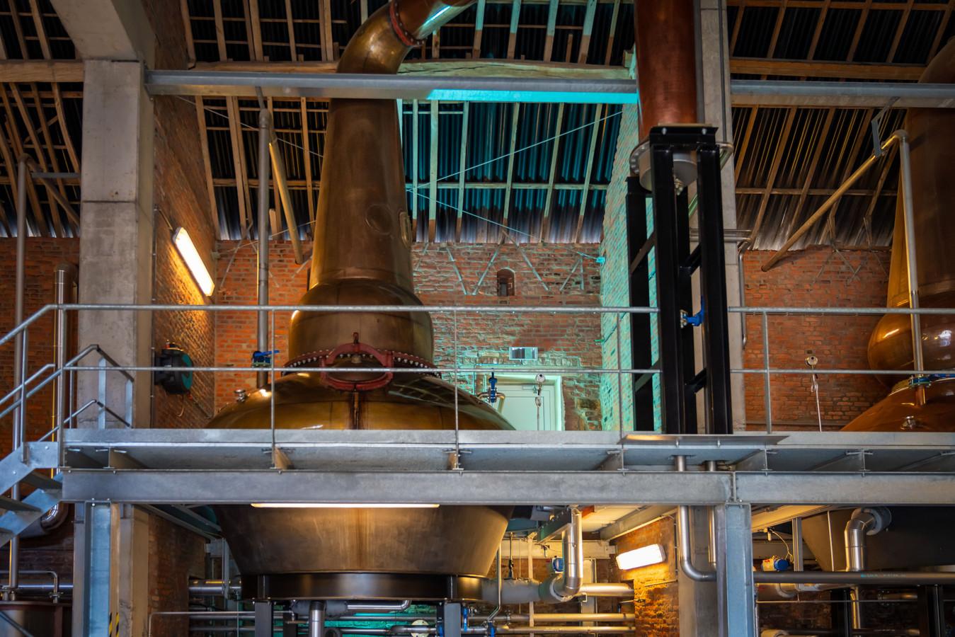 La distillerie Belgian Owl vue de l'intérieur.
