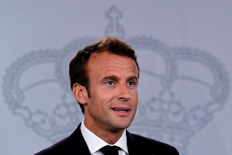 De Franse president Emmanuel Macron. Beeld AFP