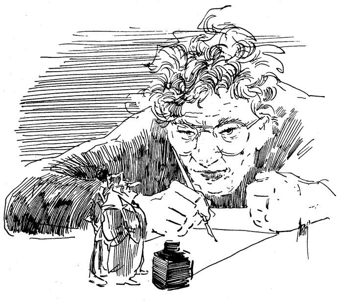 Zelfportret van Peter van Straaten uit 1987.