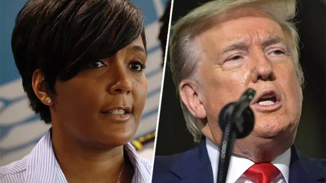 President Trump en burgemeester Bottoms: allebei zijn ze woest, maar hun toon kon niet meer verschillen