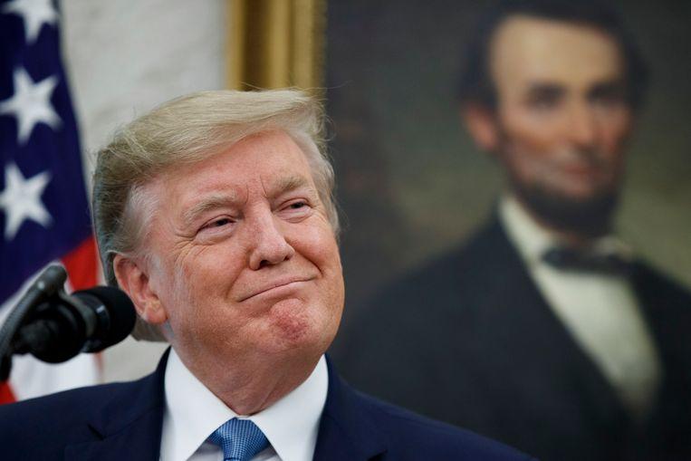De Amerikaanse president Donald J. Trump.