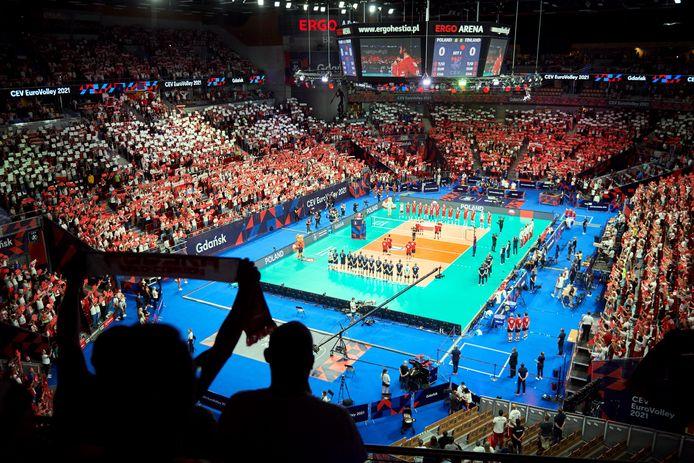 Overzicht van de arena in Gdansk.