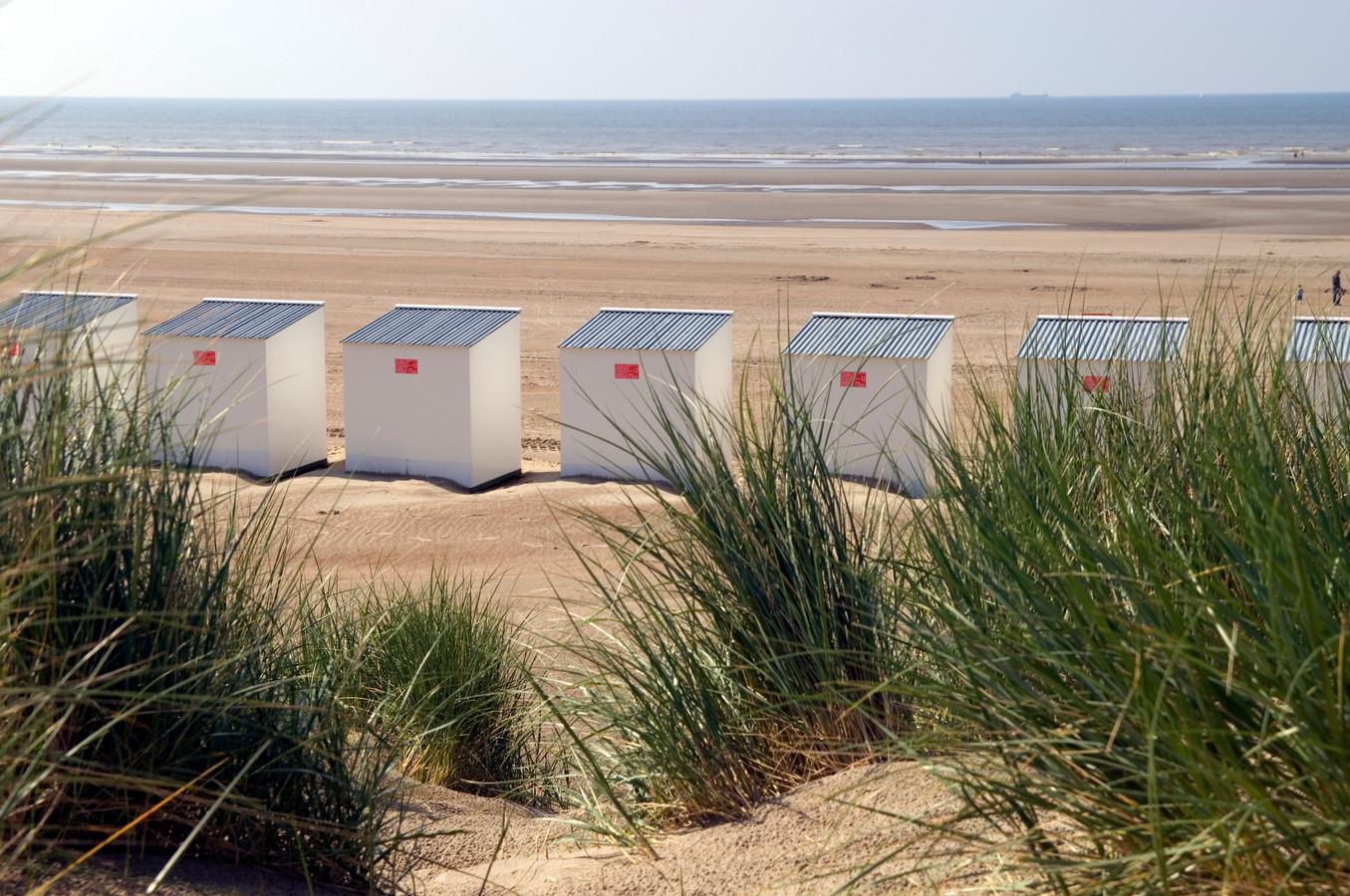 Vue sur une plage belge.
