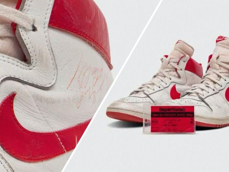 Dit paar sneakers bracht meer dan 1 miljoen dollar op