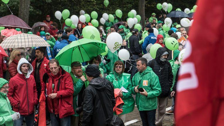 Betogers in Gent. Beeld Belga