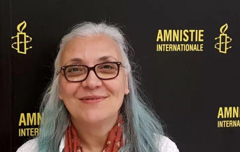 Amnesty's directeur in Turkije, Idil Eser. Zij werd op 5 juli gearresteerd, samen met negen andere mensenrechtenverdedigers. Zij moet nu terechtstaan op verdenking van het geven van steun aan een gewapende terreurorganisatie, heeft een rechtbank in Istanbul bepaald. Beeld Amnesty International