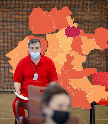 KAART | Coronacijfers Putten schieten omhoog, opsteker voor Zwartewaterland