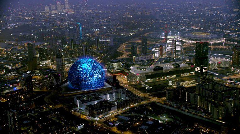 Het ontwerp van de MSG Sphere in Londen, ontworpen door architectenbureau Populous. Beeld