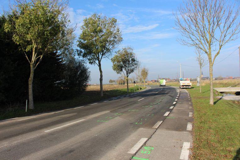 Het ongeval gebeurde in de Dorpsstraat in Klemskerke bij De Haan.