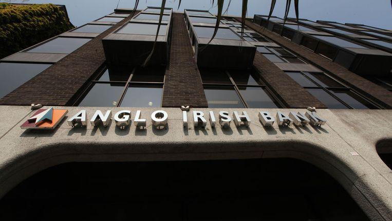 Het hoofdkantoor van de Anglo Irish Bank in Dublin. Beeld ap