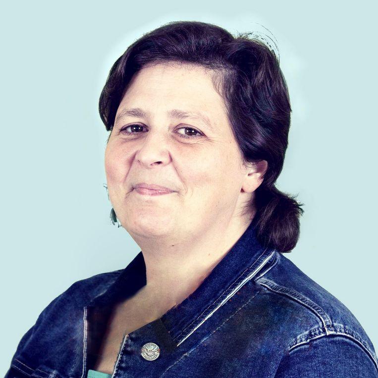 Cindy Eykens: 'Mijn uitkering voor april is pas half mei gestort, waardoor ik zelfs geen voeding meer kon kopen. Ik ben gaan aankloppen bij de voedselbank. Beeld RV