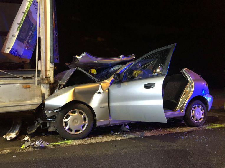 Het ongeval deed zich voor op de Mechelsesteenweg in Edegem.