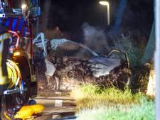 Drie mannen overleden nadat auto in brand vliegt