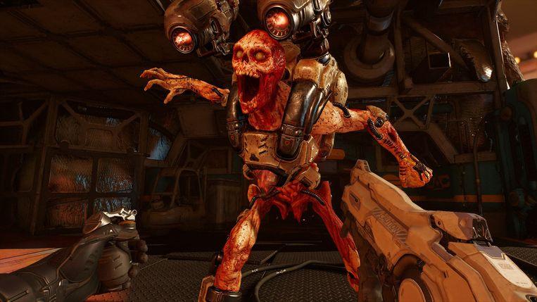 Hellegebroed aan gruzelementen schieten in Doom VFR: u kunt er gewend aan worden. Beeld Bethesda
