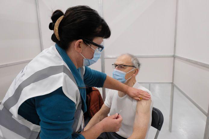 Sfeerbeeld van het vaccinatiecentrum.
