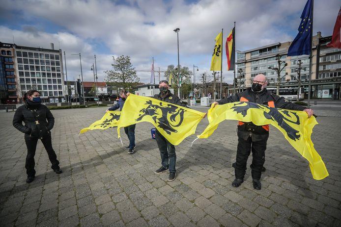 Rechts Radicale Actie voerde vandaag protest in Hasselt.