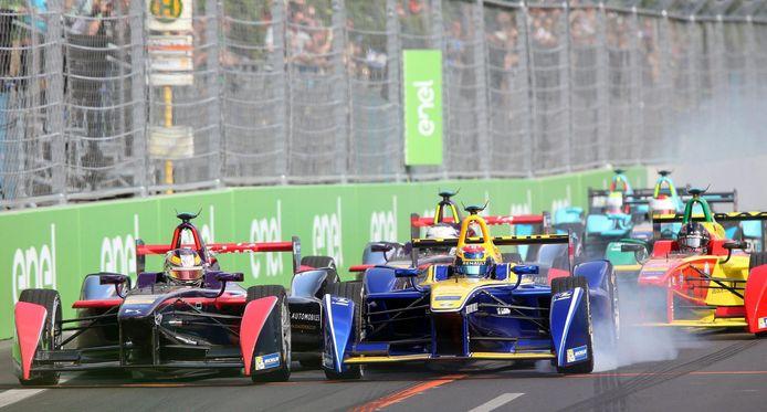 Een race in de Formule E (archiefoto).