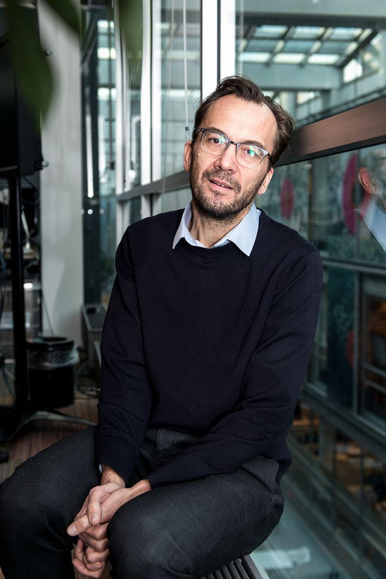 Volkskrant-hoofdredacteur Pieter Klok Beeld Eva Faché