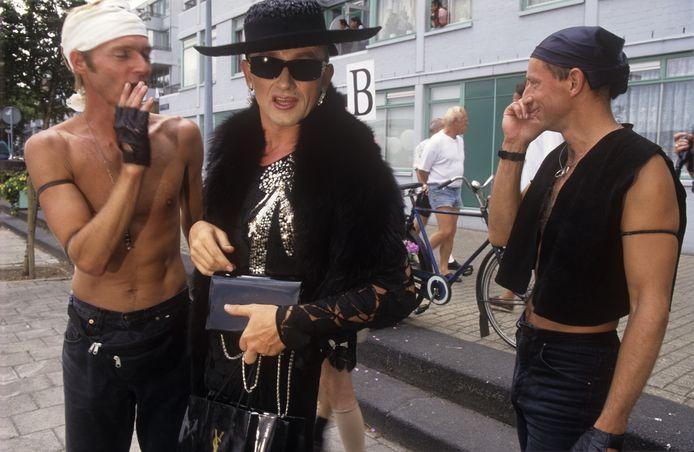De eerste Amsterdam Pride 1996.