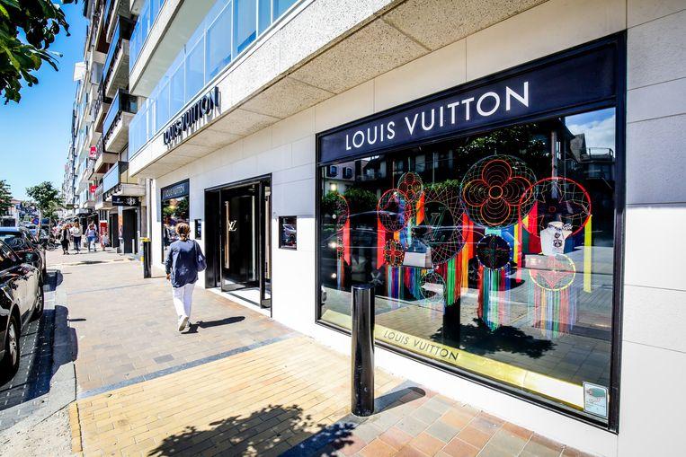 De inbrekers probeerden toe te slaan in de Louis Vuitton-winkel in Knokke.