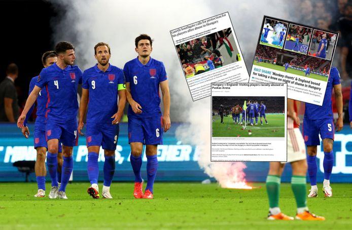 De Engelse pers veroordeelde het gedrag van de Hongaarse fans scherp.