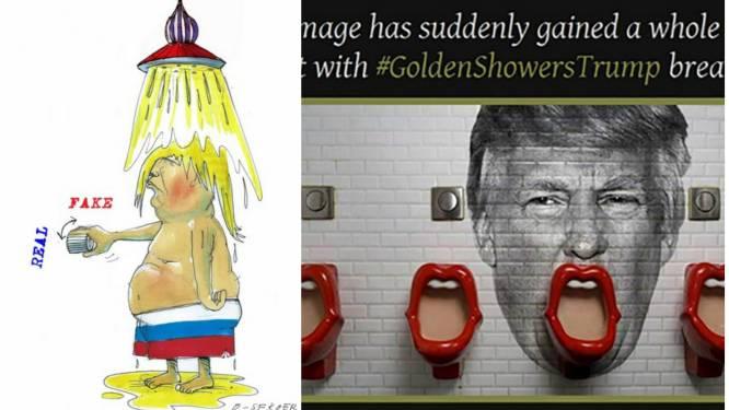 Twitter amuseert zich met #GoldenshowersTrump