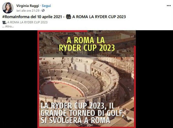 La gaffe de la maire de Rome: les arènes de Nîmes ont remplacé le Colisée dans la vidéo promotionnelle