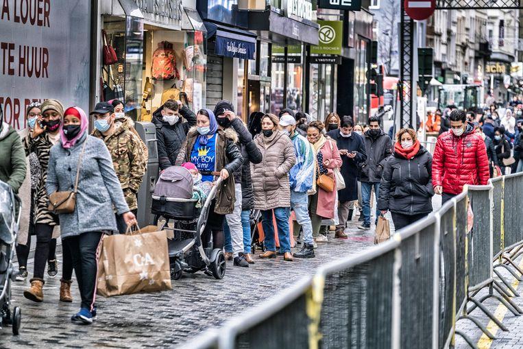 De Nieuwstraat in Brussel. Beeld Tim Dirven