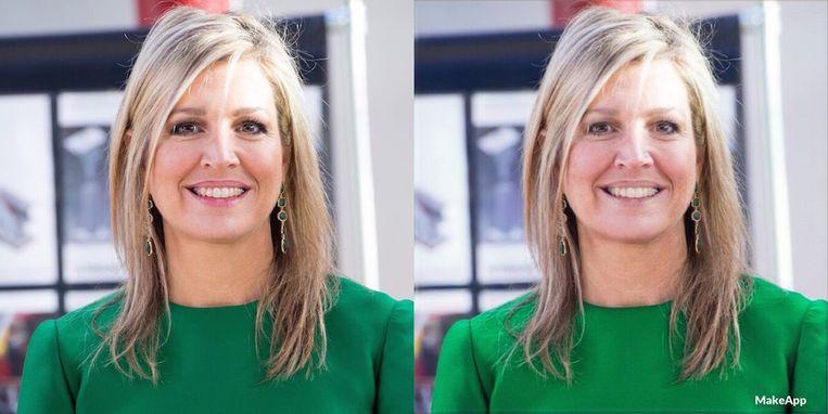 Met en zonder make up