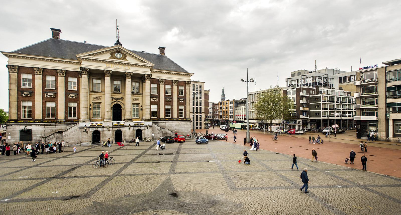 Het stadhuis in Groningen